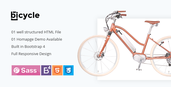 Bicycle - Single Product HTML5 Template