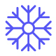 Winter Snowflake Line Icons