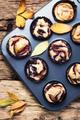rustic cupcake with plum