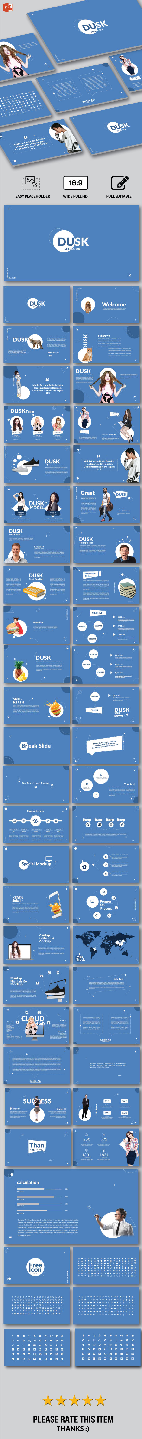 Dusk - Multipurpose Powerpoint - PowerPoint Templates Presentation Templates
