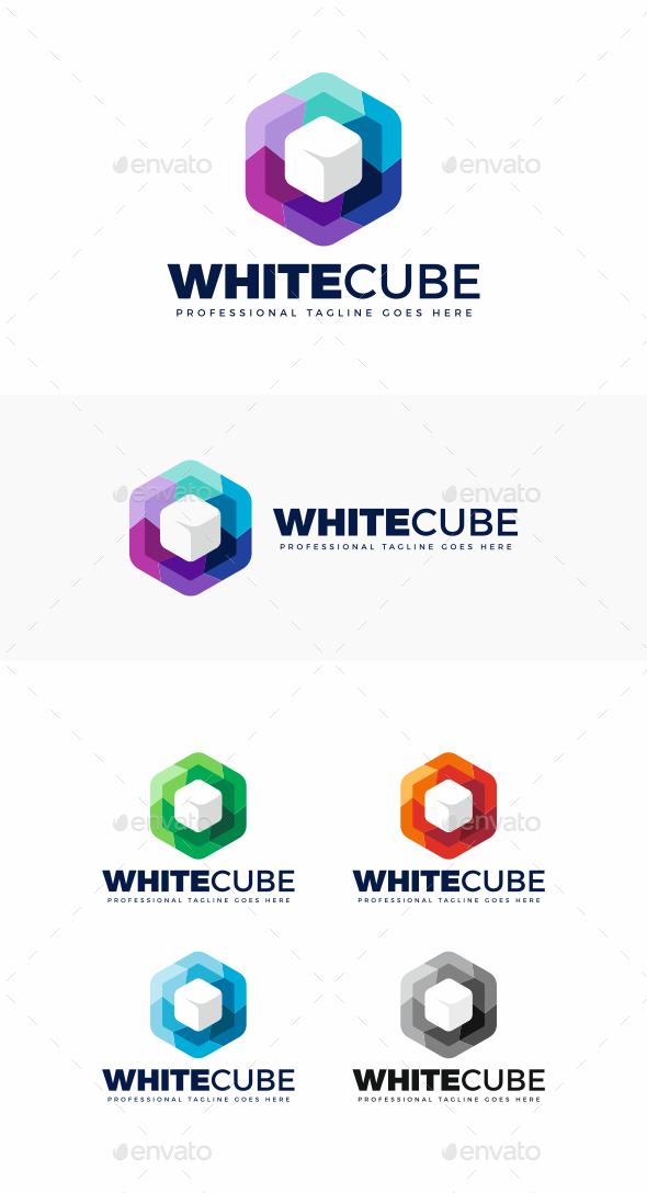 GraphicRiver White Cube Logo 20683969