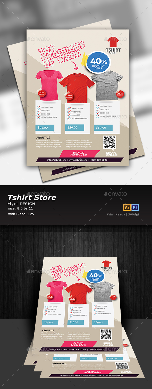 T-Shirt Flyer Design - Commerce Flyers