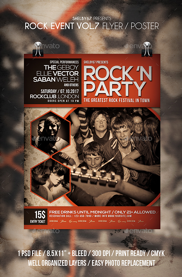 GraphicRiver Rock Event Flyer Poster Vol 7 20684139