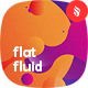 Abstract Flat Multicolored Fluid Backgrounds - GraphicRiver Item for Sale