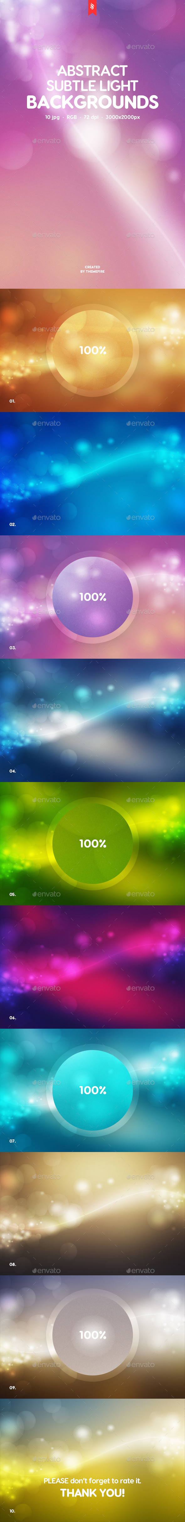 Subtle Light Backgrounds - Abstract Backgrounds