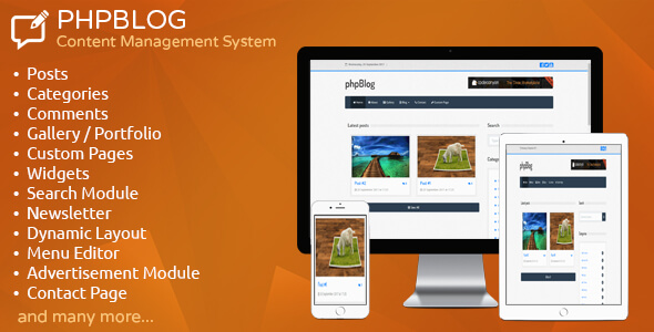 phpBlog - Content Management System - CodeCanyon Item for Sale