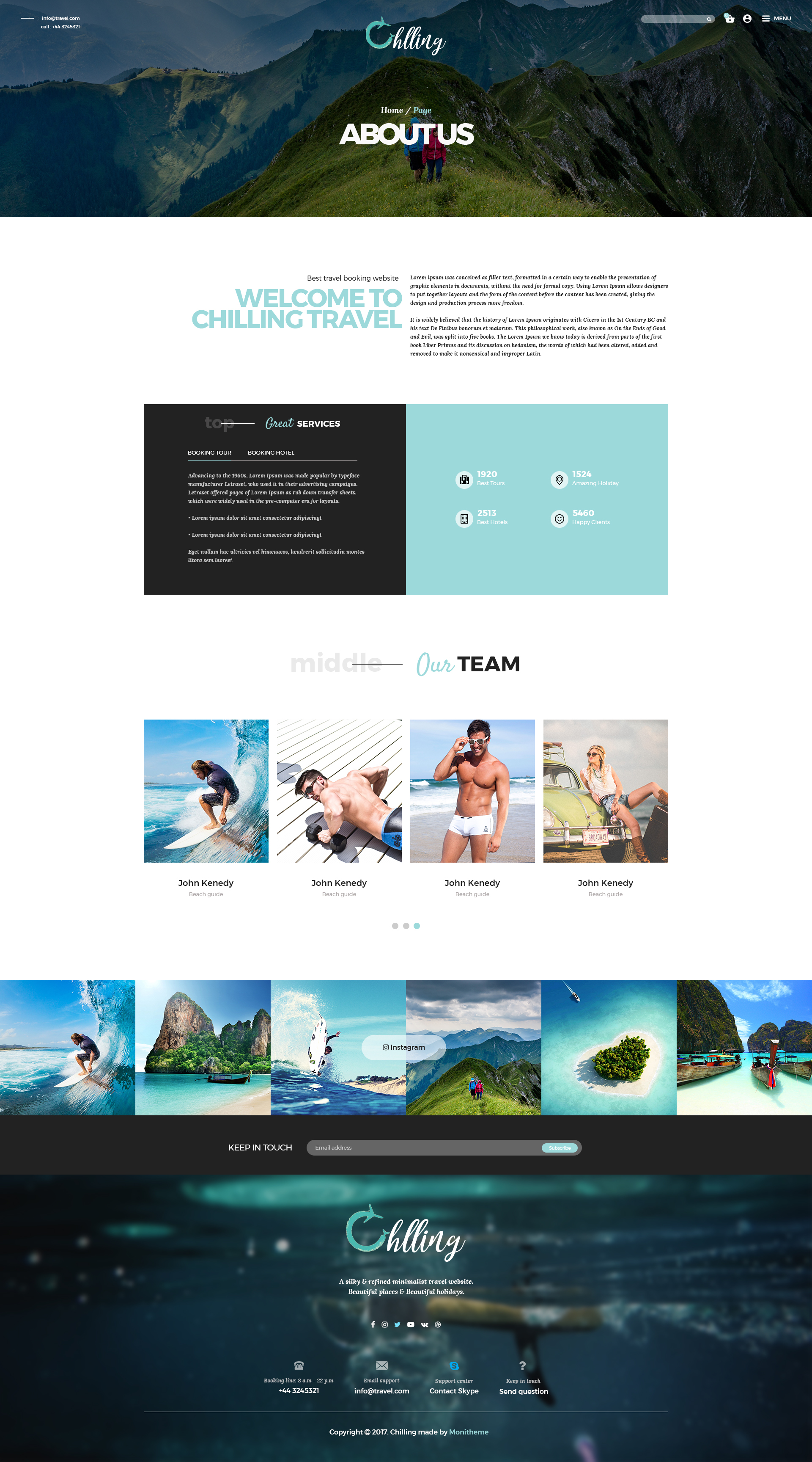 Chilling Travel Tour Booking PSD Template By Monitheme ThemeForest - Best of hotel presentation template ideas