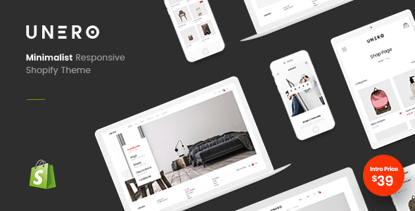 Unero - Minimal Shopify Sections Theme