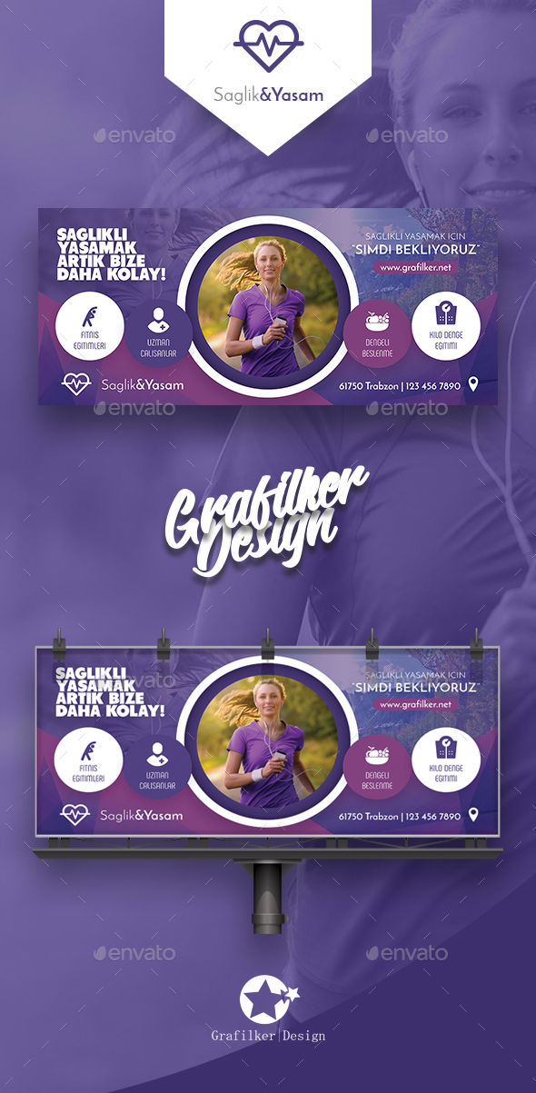 GraphicRiver Healthy Life Billboard Templates 20684872
