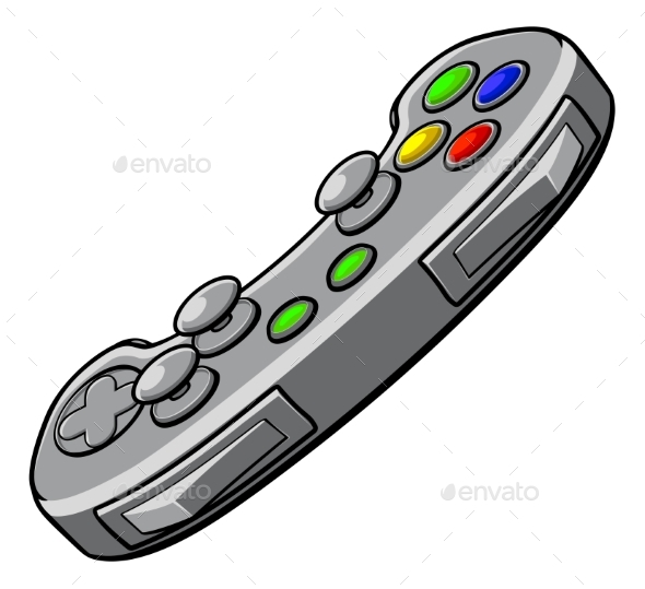 Video Games Console Controller - Objects Vectors