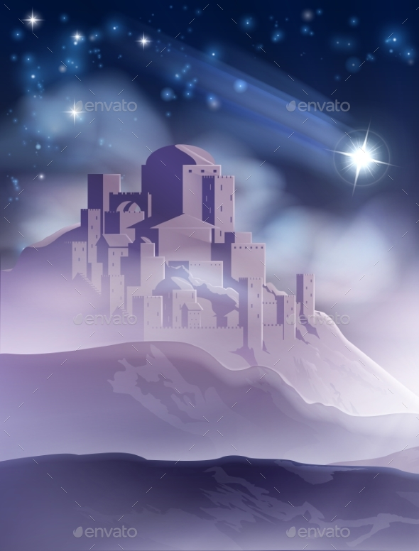 The Christmas Star of Bethlehem Illustration - Christmas Seasons/Holidays