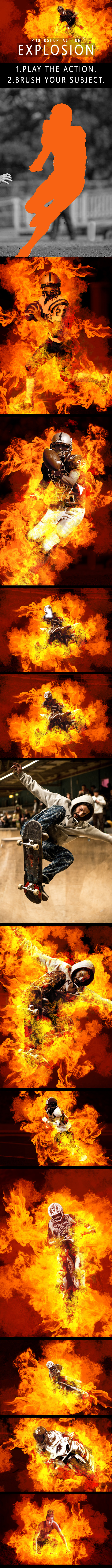 Explosion Photoshop Action - Photo Effects Actions