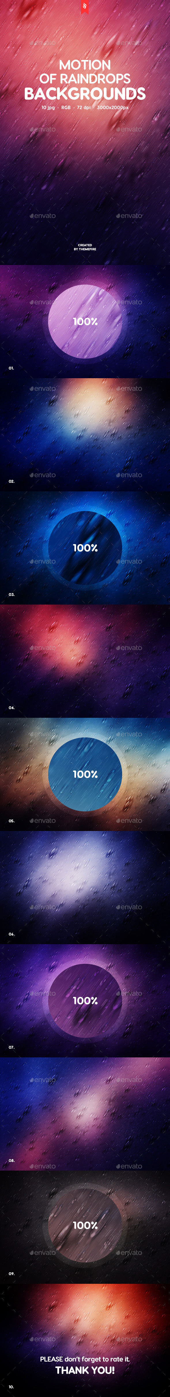 Motion of Raindrops Backgrounds - Backgrounds Graphics