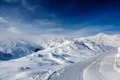 Alpine winter mountain landscape. French Alps with snow. - PhotoDune Item for Sale