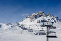 Ski lift in mountains at winter - PhotoDune Item for Sale