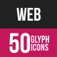 Web Glyph Inverted Icons