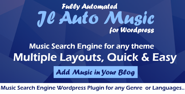 Auto Mp3 Music Search Engine Wordpress Plugin - CodeCanyon Item for Sale