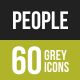 People Greyscale Icons