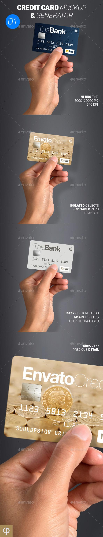 Card Mockup & Generator 01 - Business Cards Print