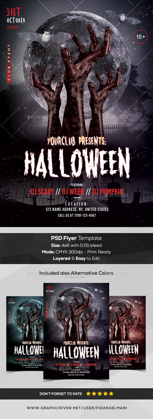 Halloween - PSD Flyer Template - Events Flyers