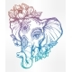 Decorative Elephant with Tribal Ornament, Flowers. - GraphicRiver Item for Sale