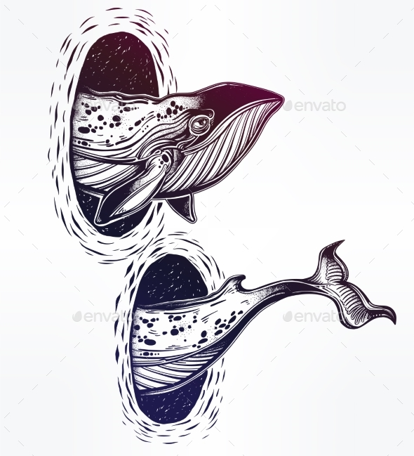 GraphicRiver Surreal Whale and the Magic Teleport Wormhole 20685287