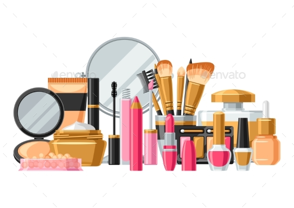 GraphicRiver Cosmetics for Skincare and Makeup 20685306