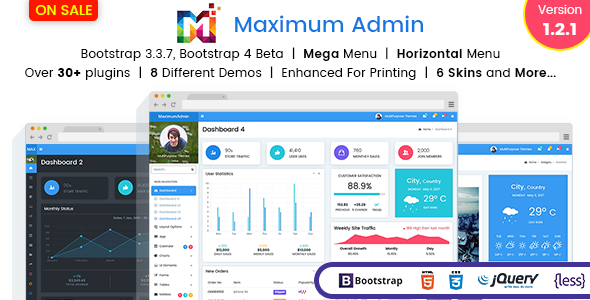 Maximum - Responsive Bootstrap 4 Admin Dashboard Template