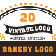 20 Bakery Vintage Labels - GraphicRiver Item for Sale