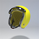 Yellow Retro Motorcycle Helmet
