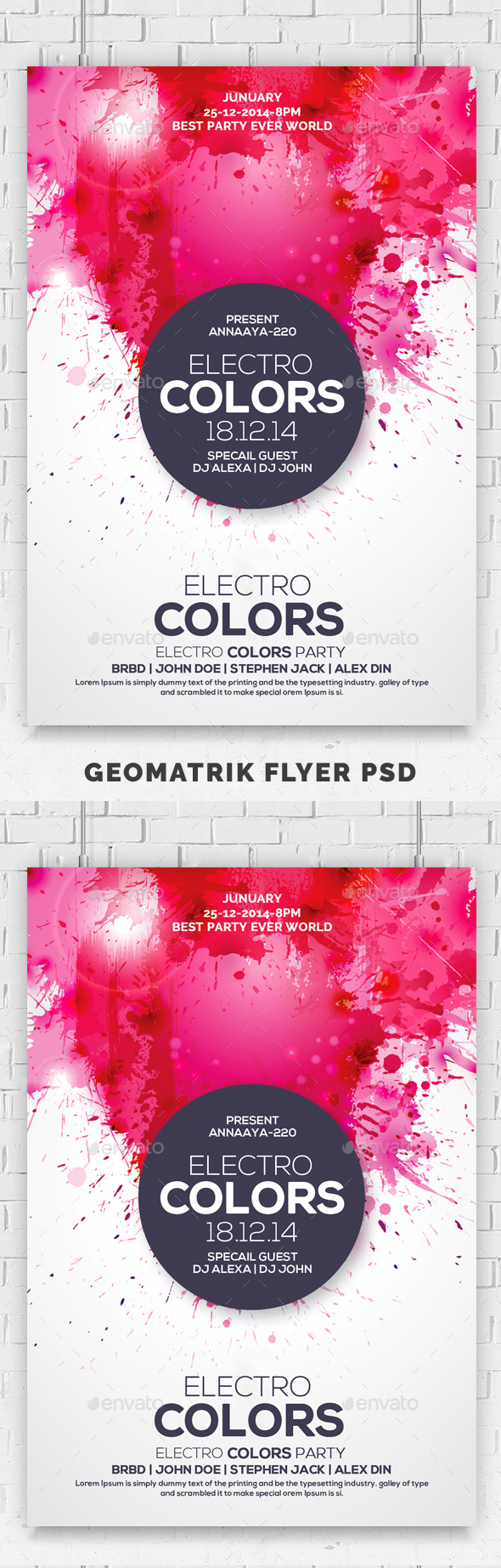 GraphicRiver Electro Colors Flyer 20685557
