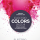 Electro Colors Flyer - GraphicRiver Item for Sale