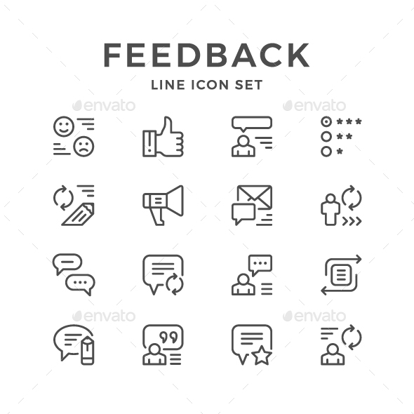GraphicRiver Set Line Icons of Feedback 20685597