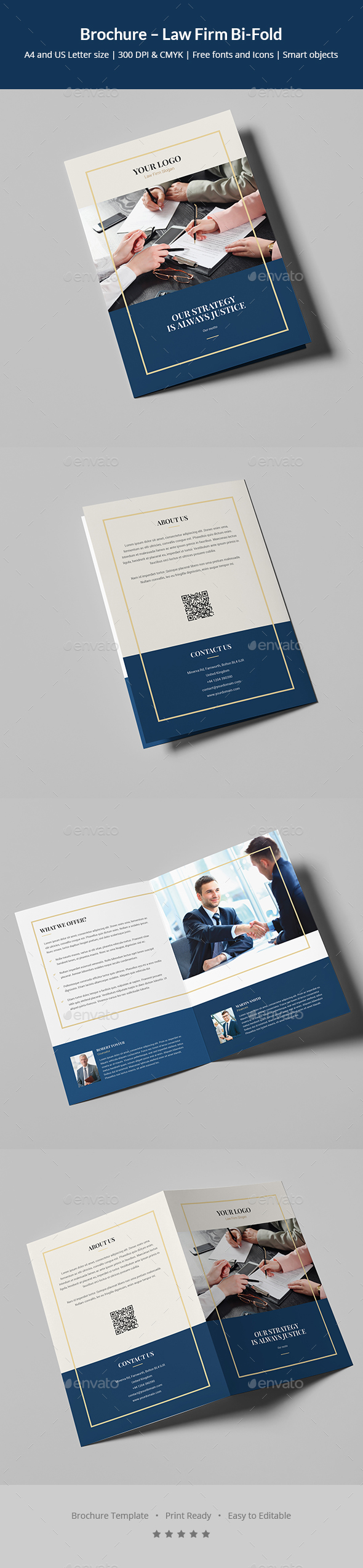 Brochure – Law Firm Bi-Fold - Corporate Brochures
