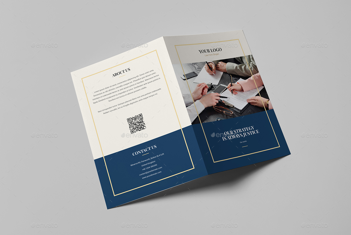 Brochure law firm bi fold by artbart graphicriver for Envato graphicriver