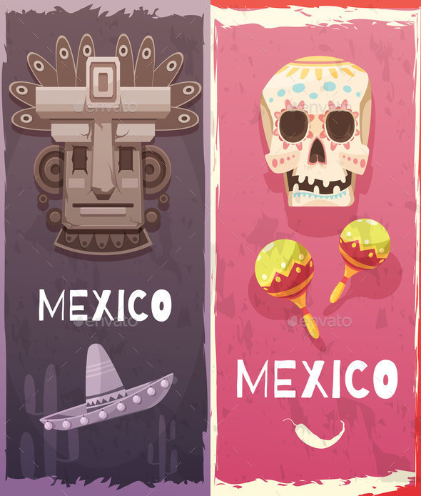 GraphicRiver Mexico Vertical Banners 20685697