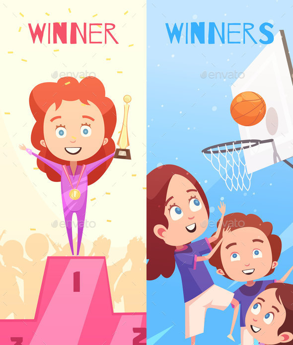 GraphicRiver Kids Sport Vertical Banners 20685700