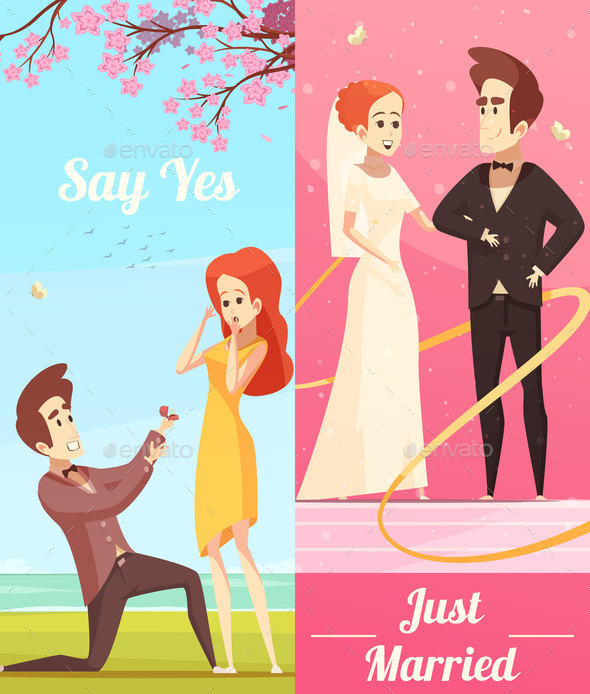 GraphicRiver Couple in Love Vertical Banners 20685702