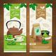 Green Matcha Tea Vertical Banners