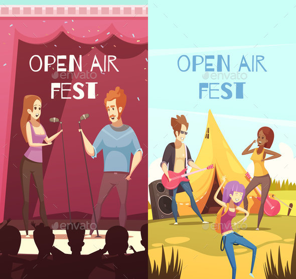 GraphicRiver Open Air Festival Banners Set 20685726