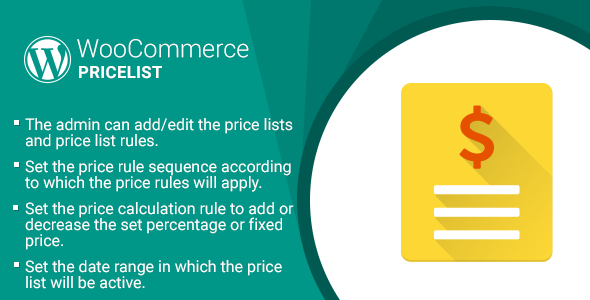 WordPress WooCommerce Pricelist Plugin - CodeCanyon Item for Sale