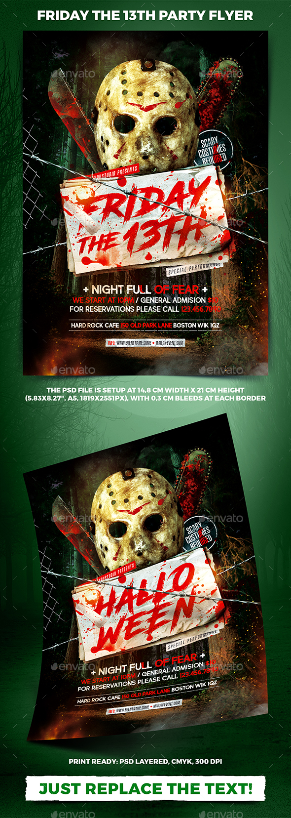 Friday the 13th Party Flyer - Holidays Events