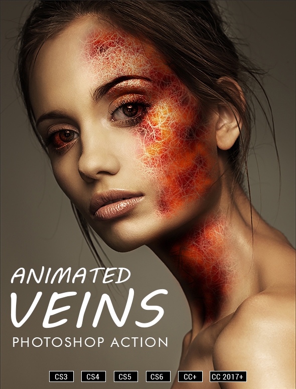 Animated Veins v2 Photoshop Action - Actions Photoshop