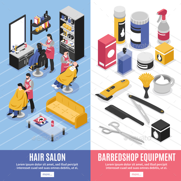 Barbershop Vertical Banners - Industries Business