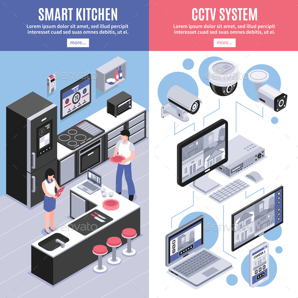 GraphicRiver Isometric Smart Home Banner Set 20685737