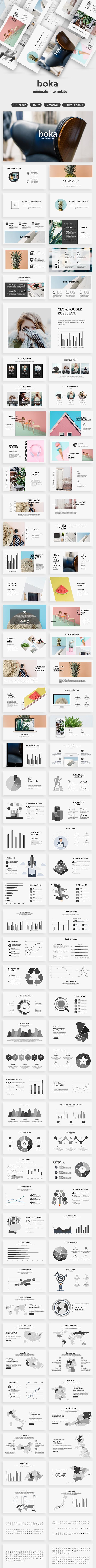 Boka Minimal Keynote Template - Creative Keynote Templates