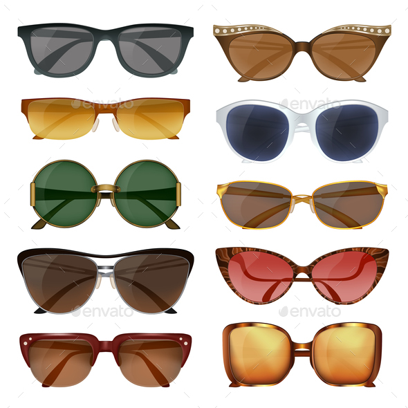 GraphicRiver Summer Sunglasses Set 20685775