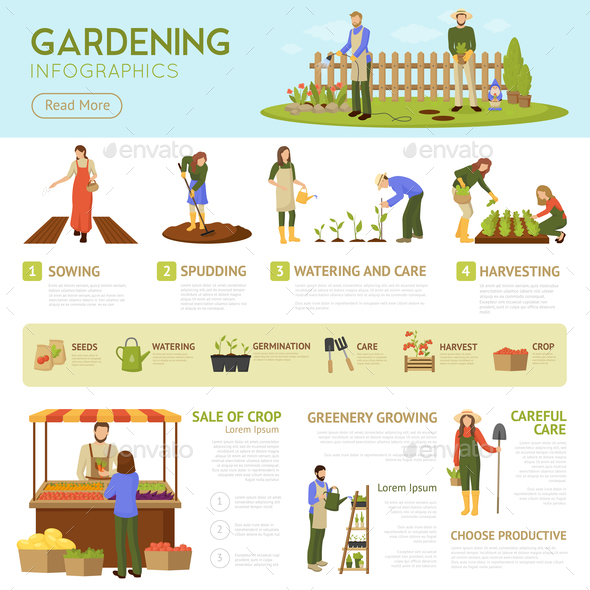 GraphicRiver Gardening Infographics Template 20685778