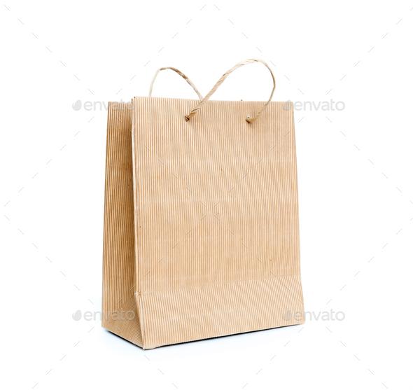 Brown paper bag - Stock Photo - Images