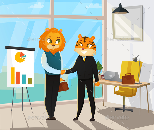 GraphicRiver Business Animals Poster 20685792